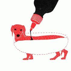 Min Liu Min Liu Art GIF - MinLiu MinLiuArt Hotdog - Discover & Share GIFs