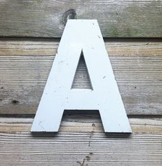 Vintage Aluminum Letter A by AuroraMills on Etsy, $40.00
