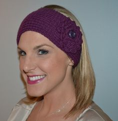 Hand Knit Lambs Wool and Acrylic Head Headband by BarbooCreations - $21