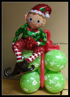1000 ideas about christmas balloons on pinterest for Water balloon christmas decorations