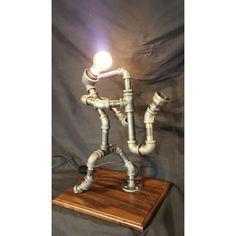 Saxophone Player - pipe lamp pipe art