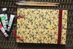 DIY Sketchbook com argolas #DIY #handmade