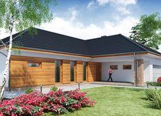 Projekt domu Otto 2 PS 188,71 m² - koszt budowy - EXTRADOM Modern House Plans, Modern House Design, 18th, Garage Doors, How To Plan, Outdoor Decor, Ps, Home Decor, Home Plans