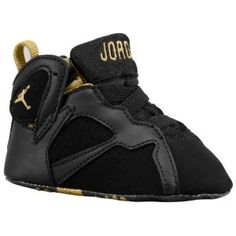 c32d9cb7950837 Jordan Retro 7 - Infants - Basketball - Shoes - Black Metallic Gold Sail ·  Baby ...