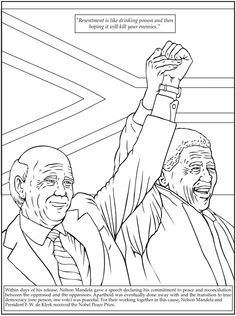 printables dover publications bw coloring nelson mandela clipart bw dover images