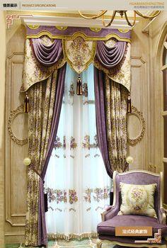 高档奢华别墅客厅棉麻窗帘布遮光卧室欧式法...
