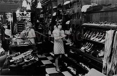 """Biba's Kensington Church Street 1965  """"Biba's at its original site in Kensington Church Street. Then it moved to it's enormous premises in High Street."""""""