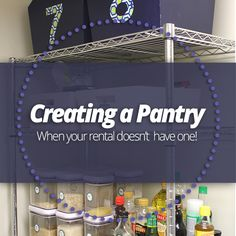 If you don't have a built-in #pantry in your #kitchen #apartment, here's a simple way to create one!