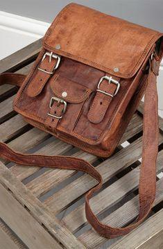 Vertical Rugged Leather Satchel Briefcase #HighOnLeather #Genuine #Vintage #Handmade #Pure