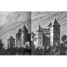 """Gravure de l'ancien château de Thorens. À lire le #RDVAncestral : """"les petits héritiers"""" sur le blog www.murmuresdancetres.blogspot.fr  #genealogie © chateauthorens.fr"""