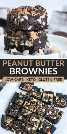 These keto peanut butter brownies are fudgy and oh so delicious! Perfect for enjoying with a glass of almond milk or a scoop of keto ice cream. Low Carb Keto, Low Carb Recipes, Real Food Recipes, Healthy Recipes, Sweet Recipes, Cooking Recipes, Peanut Butter Brownies, Peanut Butter Recipes, Keto Brownies