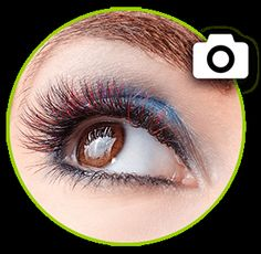Wimpernextensions::in Farbe