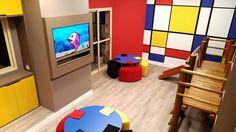 Brinquedoteca, um espaço lúdico que desperta a curiosidade das crianças. Projeto dos arquitetos parceiros Viviana Delia Cattaneo e Fernando Iervolino, ficou maravilhoso!!!