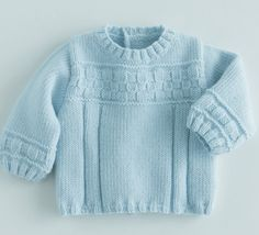 Free pattern at Phildar-french only Free knitting patterns - Phildar Baby Knitting Patterns, Baby Sweater Patterns, Baby Boy Knitting, Knit Baby Sweaters, Knitted Baby Clothes, Knitting For Kids, Knitting Designs, Baby Patterns, Free Knitting