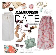 """""""Summer date"""" by punnky ❤ liked on Polyvore featuring Library of Flowers, Chronicle Books, 3.1 Phillip Lim, Chanel, Haute Hippie, Benefit, Ulla Johnson, Illesteva, beach and summerdate"""