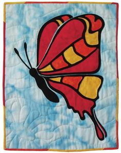 Stained-Glass Butterfly Wall Hanging