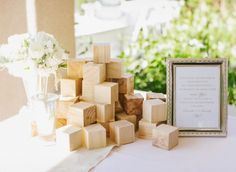 Baby Shower Idea - decorate wooden block for the baby to play with!