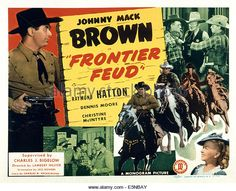 tom tyler in tracy rides 1935 | FRONTIER FEUD, Johnny Mack Brown (left), Raymond Hatton (top right ...