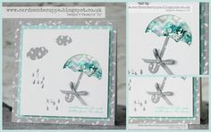 Weather Together   Sarah-Jane Rae cardsandacuppa: Stampin' Up! UK Order Online 24/7: Inlaid Die Cutting and a Shaker Card Combined - a Video Tutorial using Umbrella Weather Dies