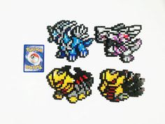 Pokemon Generation 4 Legendaries Perler - Dialga / Palkia / Giratina