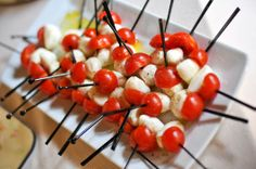 Caprese on a stick, lovely
