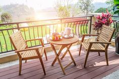 Balcony Chairs, Balcony Furniture, Outdoor Furniture Sets, Outdoor Decor, Quality Furniture, Online Furniture, Furniture Making, Wooden Sofa Set, Wooden Furniture