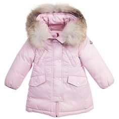 Baby Girls Pink 'Arrious' Down Padded Coat , Moncler, Girl