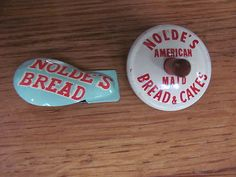 """1960's Nolde's American Maid Bread & Cakes - """"Cricket"""" & Spinning Top"""