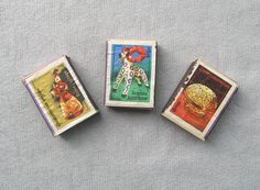 Set Soviet matches box 3 old collectible wooden uneused