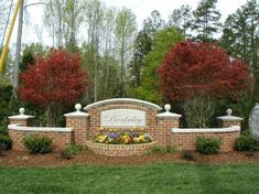 neighborhood entrance landscaping photos   Subdivision Entrance Monuments   Outdoor Contracting