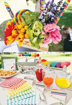 Rainbow + Unicorn Party (featured on Hostess with the Mostess)