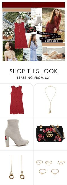 """""""Don't you say goodbye, just take my hand now"""" by ita-varela ❤ liked on Polyvore featuring MANGO, Bølo, Gucci and Laura Lombardi"""