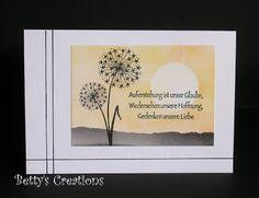 Bettys-creations: Karten Trauer