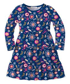 Look what I found on #zulily! Navy Floral Skater Dress - Toddler & Girls #zulilyfinds