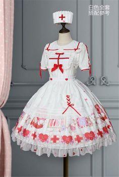 Harajuku Fashion, Kawaii Fashion, Lolita Fashion, Cute Fashion, Fashion Outfits, Pastell Goth Outfits, Outfit Look, Japanese Street Fashion, Nursing Clothes