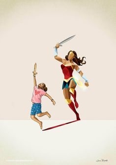New Children's Superheroes Shadows Posters  (16)