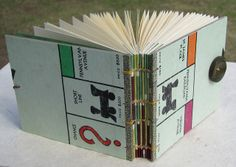 Blank Monopoly Book with Button Closure