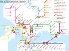 Hong Kong Maps, including Hong Kong Attraction Map and Hong Kong Transport Map, makes it easy for you to travel around Hong Kong. China Map, China Travel, Travel Maps, Transport Map, Metro Map, Subway Map, China Hong Kong, Thing 1, Day Hike