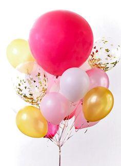- van-harte-met-deze-roze-ballonnen - Apocalypse Now And Then Happy Birthday Pictures, Happy Birthday Wishes, Under The Sea Party, Happy B Day, Easter Eggs, Balloons, Bullet Journal, Funny, Google