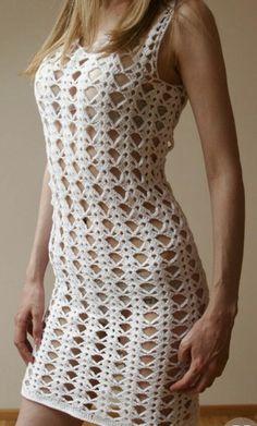 Free Crochet Doily Patterns, Crochet Bikini Pattern, Crochet Designs, Crochet Lace, Crochet Stitches, Macrame Dress, Gown Pattern, Crochet Woman, Unique Dresses