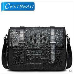 cestbeau new freeshipping thai crocodile skin man bag single shoulder bag cross men bag Crocodile Skin, Men's Bags, Messenger Bag, Satchel, Shoulder Bag, Simple, Crosses, Men, Bags