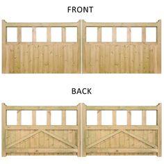 Quorn Double Wooden Driveway Gate | Internet Gardener