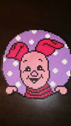 Piglet - Winnie perler beads by Nadja Jensen / Pattern: http://www.pinterest.com/pin/374291419002859330/