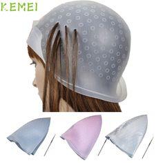Hot Best Deal Beauty Girl Professional Salon Reusable Hair Colouring Highlighting Dye Cap Hat Hook J13X20 #Affiliate
