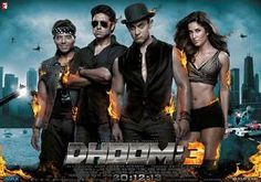 An ominously stormy sky, skyscrapers, choppers flying in the air and a topless man watching all this standing behind a window - was the first look of the much awaited film 'Dhoom 3'.