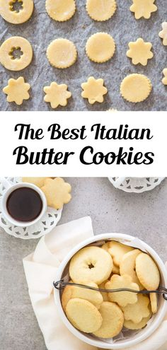 A buttery simple Italian Cookie. This is the easiest butter cookie recipe! Serve this easy cookie recipe as a holiday cookie or with tea or coffee in the afternoon. Try making these easy Italian Butter Cookies for afternoon tea, or anytime! #buttercookies #cookies Italian Butter Cookies, Butter Cookies Recipe, Easy Sugar Cookies, Lemon Cookies, Bar Recipes, Easy Cookie Recipes, The Best Monster Cookie Recipe, Wine Cookies, Creative Desserts