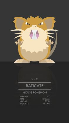 Raticate by WEAPONIX on deviantART