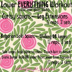 Lower EVERYTHING Workout. outer thighs, inner thighs, quads, Glutes  IG|| @haleya_fit_happens