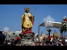 Festa di San Nicola, Bari, Italia - Saint Nicholas fest in Bari in Italy. Bari, San Nicola, Xmas Movies, Black Santa, Photos Voyages, Saint Nicholas, Light Year, 11th Century, Travel Videos