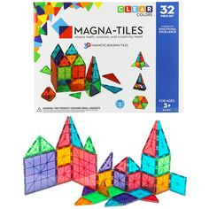 Magna-Tiles® Clear Colors 32 Piece Building Set at The Animal Rescue Site